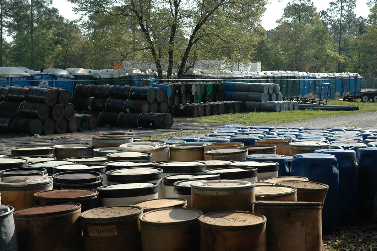 barrels of nonhazardous waste