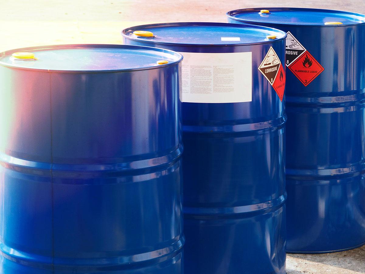 drums of hazardous waste